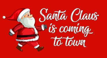 Röd Santa Claus mall vektor