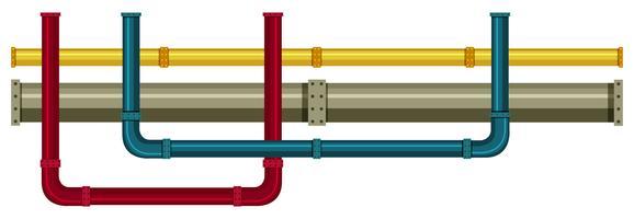 Unterirdisches Rohr auf weißem Hintergrund vektor