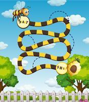Ein Bienenlabyrinthspiel vektor