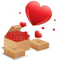 Boxen mit Rosen vektor