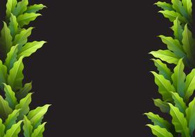 Bakgrundsmall med gröna blad vektor