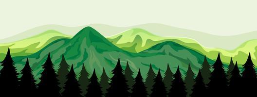 En vacker utsikt över bergen vektor