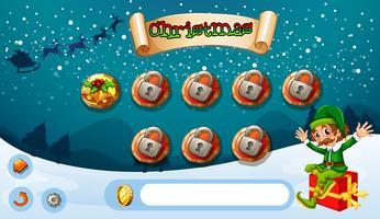 Game Design mit Elf und Geschenk vektor