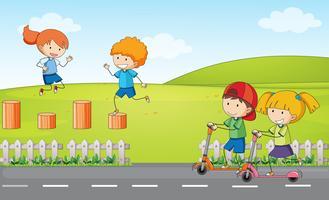 Dooldle Kinder am Spielplatz vektor