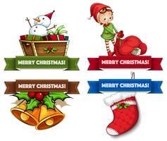 Jul logotyper vektor