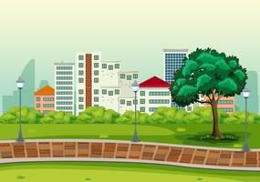 Ein städtischer Gipfelhintergrund vektor