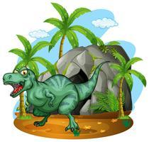 T-Rex lebt in der Höhle vektor