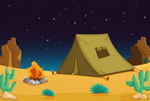 Camping på natten vektor