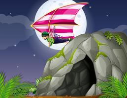 Höhle und Drachenfliegen vektor