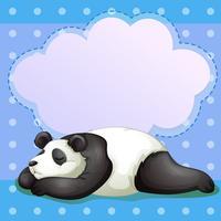 Ein schlafender Bär mit einem leeren Hinweis