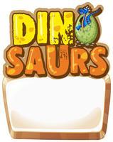 Grenzschablone mit Dinosaurierei