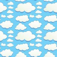 Sömlösa moln i blå himmel vektor