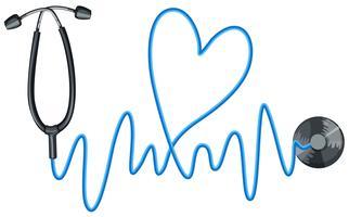 Stethoskop als Symbol für Gesundheit vektor