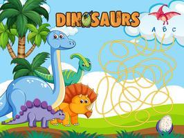 Dino-Brettspielvorlage
