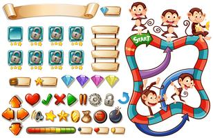 Spielvorlage mit Affen vektor