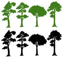 Set von Silhouette Baum vektor