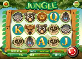 Datorspelsmall med djungeltema vektor