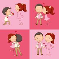 Man och kvinna i kärlek vektor