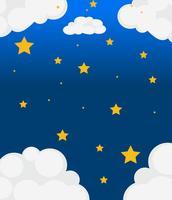 En himmel med ljusa stjärnor