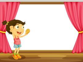 Ein Mädchen und ein Fenster
