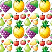 Sömlös olika slags frukter