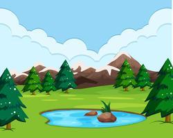 Eine Naturansicht Landschaft