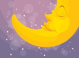 schlafender Mond vektor