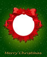 Eine runde Weihnachtsvorlage vektor