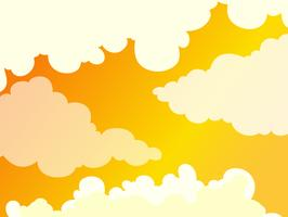 Vacker Molnig Golden Sky Background