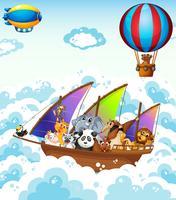 Tiere auf dem Boot