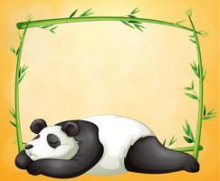En tom ram och den sovande pandaen vektor