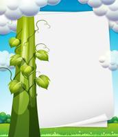 Banner med bönstalk vektor