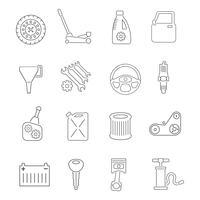 Inställningar för autoservice ikoner vektor