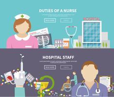 sjuksköterskans banneruppsättning vektor