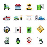 Tankstelle Icons Set