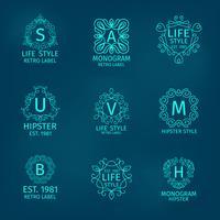 Monogramm-Hipster-Set