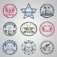 Rock Festival Briefmarken vektor