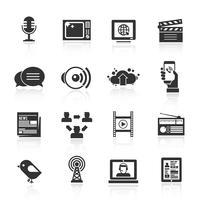 Medien Icons Set