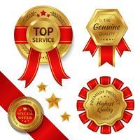 Auszeichnungsbänder eingestellt