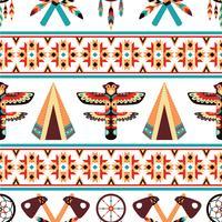 Etnisk gräns mönster design vektor