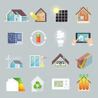 Energibesparande hus vektor