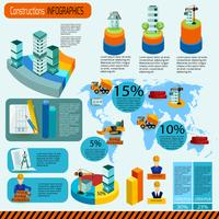 Konstruktion Infographics Set