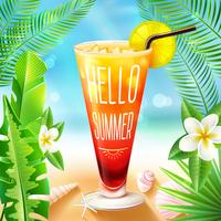 Sommardesign med cocktail
