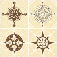 Weinlese-Kompass-Set vektor