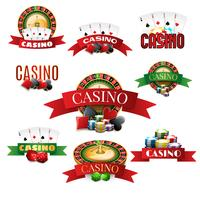 Casino-Embleme gesetzt