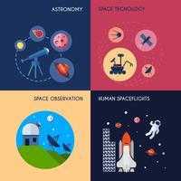 Space ikoner Flat