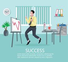 Erfolgreiches Geschäftsideen-Poster vektor
