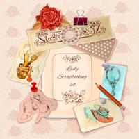 Damen Scrapbooking Set vektor