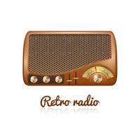 Retro Radio Abbildung vektor