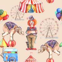 Zirkus-nahtloses Muster vektor